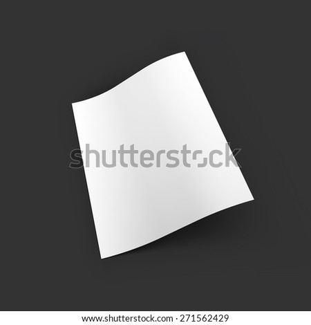 Page with curved corners. Top view. Business mockup template. Presentation of your branding and identity design. Vector Illustration EPS10. - stock vector