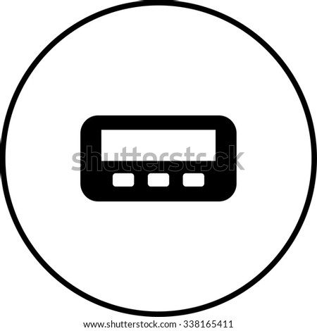 pager symbol - stock vector
