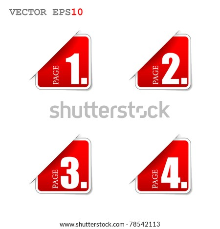 pages - stock vector