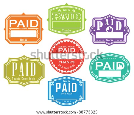 Paid Stamp - stock vector