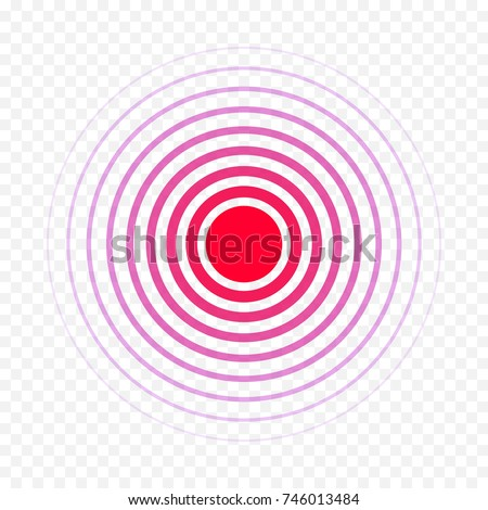 Pain Circle Red Icon Medical Painkiller Stock Vector 746013484
