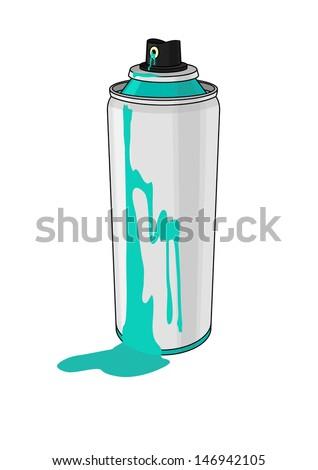 Paint aerosol - stock vector