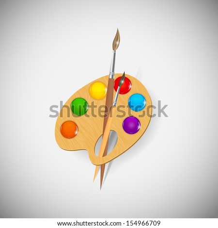 Paint application icons vector illustration - stock vector