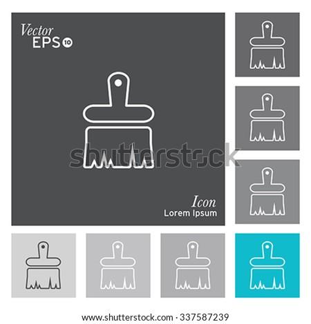Paint brush icon - vector, illustration. - stock vector