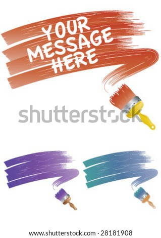 Paint brush with color dye
