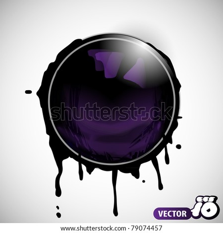 Paint bubble - stock vector