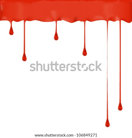 Paint color dripping, eps10 vector