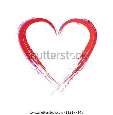 paint heart - stock vector