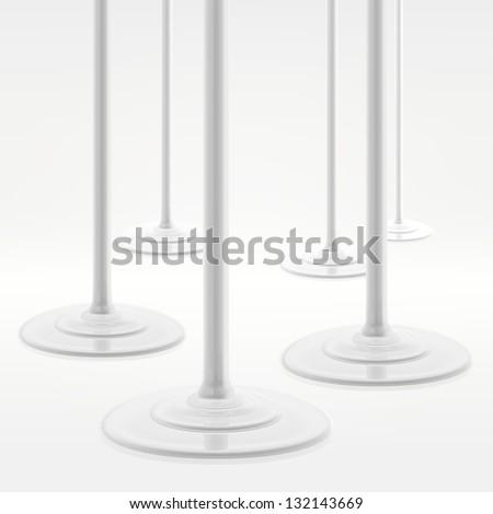 Paint, milk or white cream liquid spill eps10 vector composition - stock vector