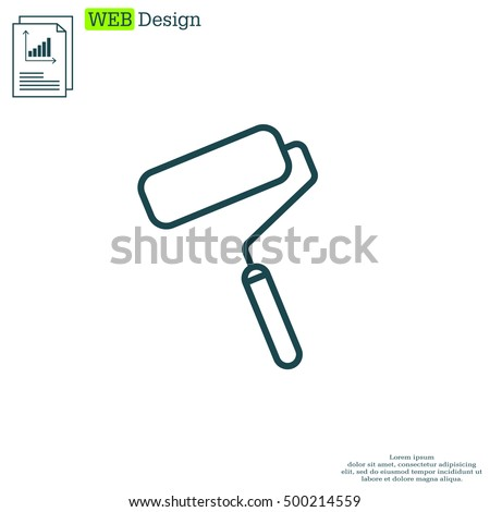 Paint roller icon. Paintbrus sign.