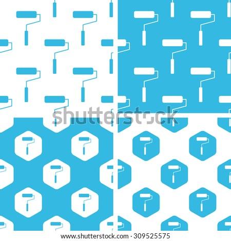 Paint roller pattern set. Paint roller pattern set art. Paint roller pattern set web. Paint roller pattern set new. Paint roller pattern set www. Paint roller pattern set app - stock vector