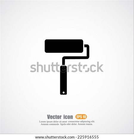 paint roller vector icon - stock vector