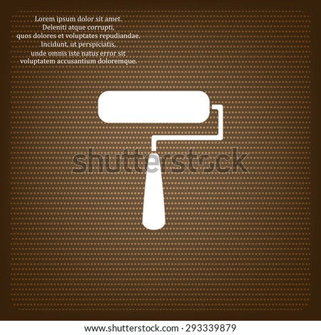 Paint Roller. Vector icon. Flat design style