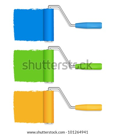 Paint rollers, vector eps10 illustration