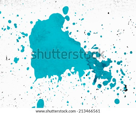 Paint Splash with Grunge Concrete Texture - stock vector