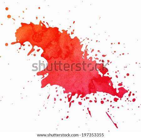Paint Splash with Grunge Texture - stock vector