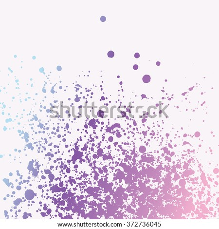 Paint splashes splatters abstract colorful vector background. Pink purple blue - stock vector
