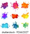 Paint splat - stock photo