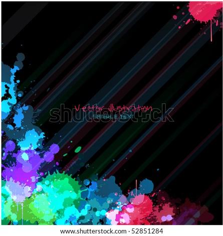 Paint splat background design - stock vector