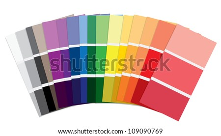 Paint Swatches - stock vector