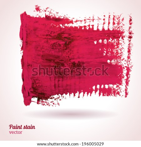 Paint texture. Vector illustration. Pink grunge template. Blobs, stain, paints blot. Composition for scrapbook elements. Brush strokes.
