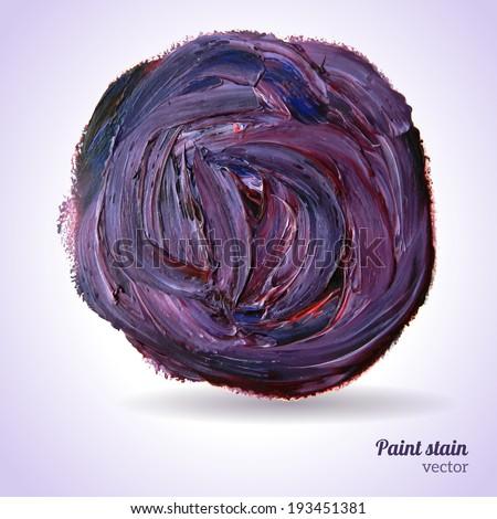 Paint texture. Vector illustration. Violet grunge template. Blobs, stain, paints blot. Composition for scrapbook elements. Brush strokes. - stock vector
