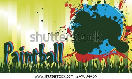 Paintball field - stock vector
