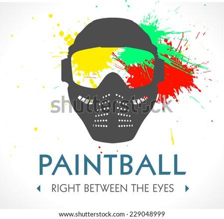 Paintball logo - stock vector
