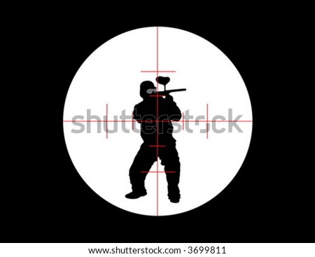 Paintball target - stock vector