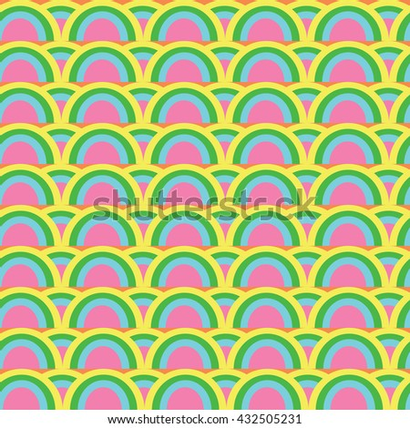 Painted Abstract Flower Seamless Pattern. - stock vector
