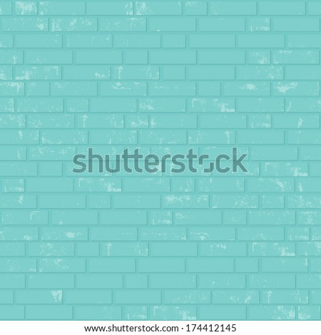 Painted brick wall. Vector background - stock vector