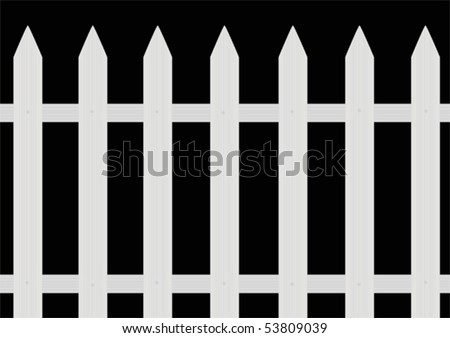 Painted fence - stock vector