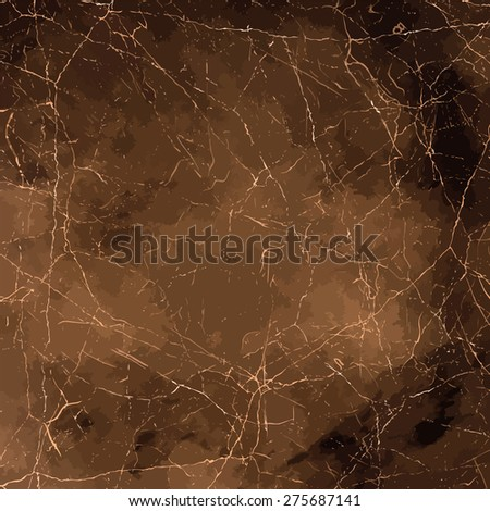 Painted grunge paper background in sepia color. Grungy brown texture. - stock vector