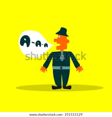 painted man says - stock vector