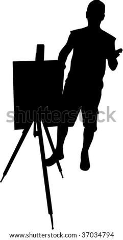 Painter 1 - stock vector