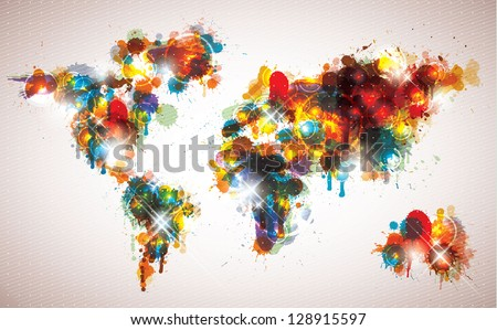 Painterly world map done cool contemporary stock vector 2018 painterly world map done cool contemporary stock vector 2018 128915597 shutterstock gumiabroncs Gallery
