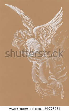 Painting Collection: Angel vector - stock vector