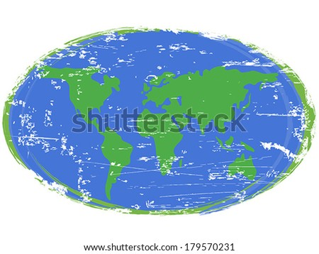 Painting earth - stock vector