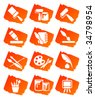 Painting icons,  vector illustration, EPS file included - stock vector