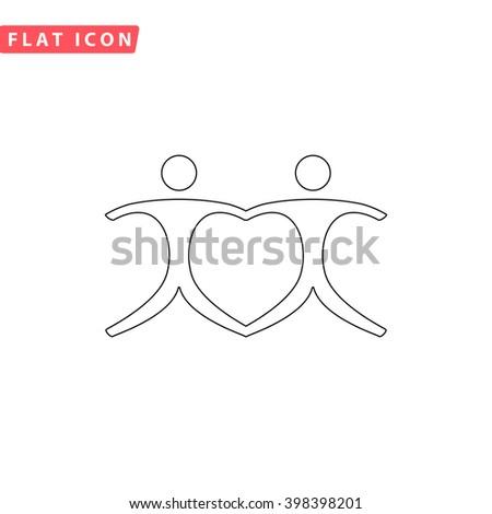 Pair Icon.  - stock vector