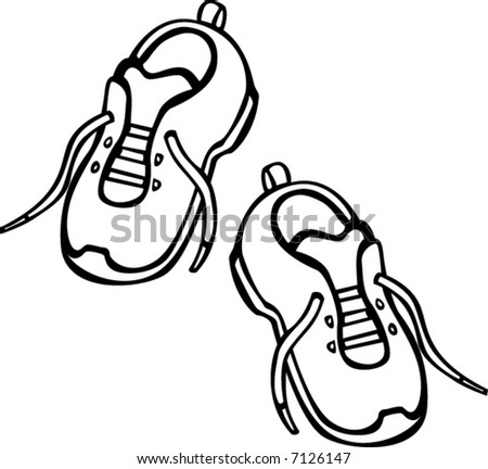 pair of shoes - stock vector