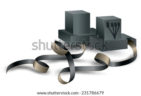 pair of tefilin - stock vector