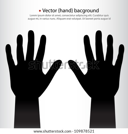 pair of vector hands background. - stock vector