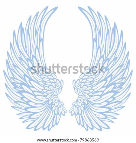 Pair of wings - stock vector