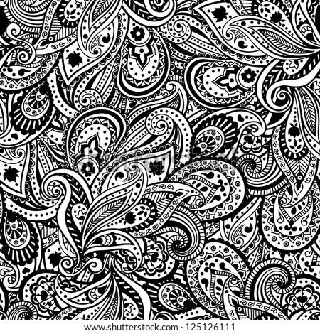 Paisley pattern - stock vector