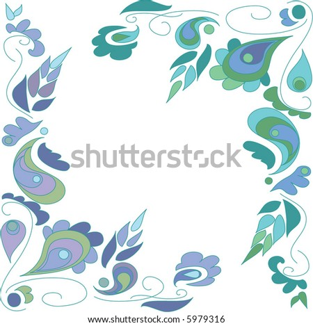 paisley pattern on white background
