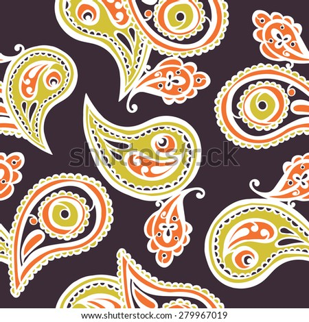 Paisley pattern. Seamless background.
