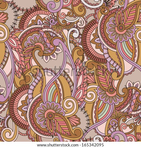 Paisley seamless background. Vector illustration - stock vector