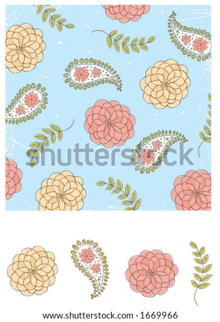 Paisly background & matching elements