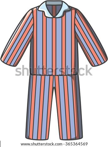 Pajamas doodle vector - stock vector
